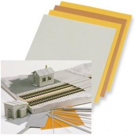 Busch 7203 Byggplattor, polystyrol plattsortiment i oliak kulörer och tjocklekar