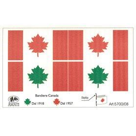 Amati 5700.08 Flaggor, självhäftande tyg, Canadian Flags, 1 set