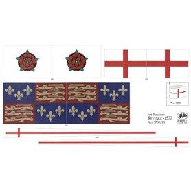 Amati 5700.24 Flaggor, självhäftande tyg, för Revenge, 1 set