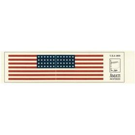 Amati 5700.20 Flaggor, självhäftande tyg, American Flags 1833, 1 set