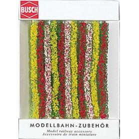 Busch 7152 Häckar, blommande, 10 st avsnitt, varje 10,5 cm lång, 10 mm bred