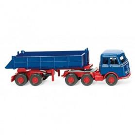 Wiking 67705 Rear tipper semi-truck (MB LPS 333) - gentian blue
