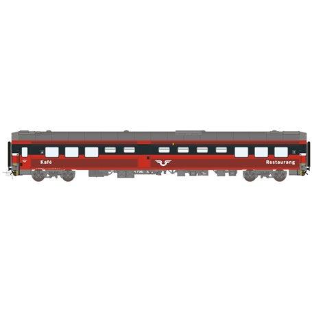 HNoll HN.1467AC Restaurangvagn SJ R4R 5455 Röd Gen 1