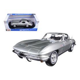 Maisto 31640 Chevrolet Corvette 1965, silver