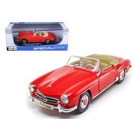 Maisto 31824 Mercedes Benz 190SL 1955, röd