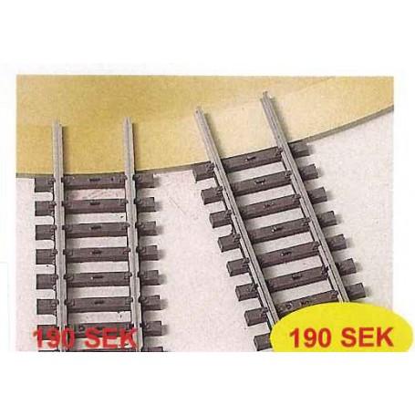 Heljan 858901 Förbindelseskenor, 4 st, fär Märklin K-Räls