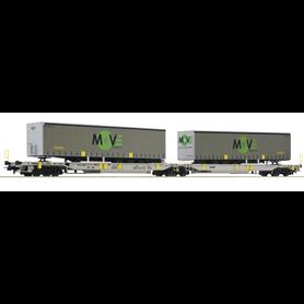 "Roco 67404 Dubbel containervagn T2000 ""MOVE"""