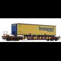 """Roco 76223 Flakvagn med last av trailer Sdgmns 33 typ DSB """"transped combiservice"""""""