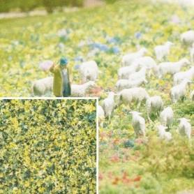Busch 7358 Flock, blommor, finkornigt, 200 ml i påse