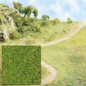 Busch 7300 Gräs, sågspån, grönblommigt, 80 gram i påse