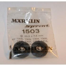 Märklin 1503 Däck för Märklin Sprint, mått 20.5 x 7.6 mm, 1 par