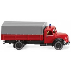 Wiking 86143 Fire brigade - flatbed truck (Magirus), 1956