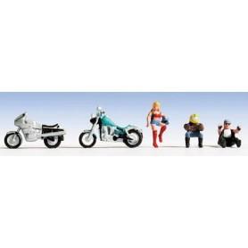 Noch 36901 Motorcyklister, 3 st med tillbehör