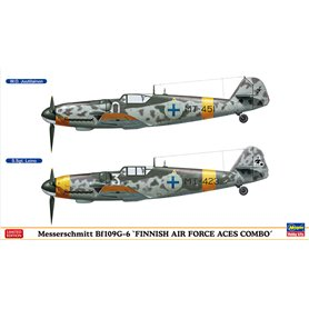 "Hasegawa 02259 Flygplan Messerschmitt Bf109G-6 ""FINNISH AIR FORCE ACES COMBO"" (2 kits in the box)"