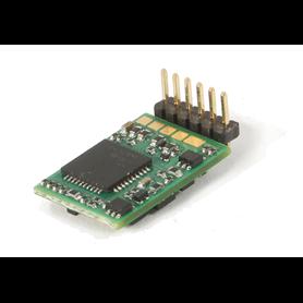 Roco 10887 6-pin decoder, angled pins (NEM 651)