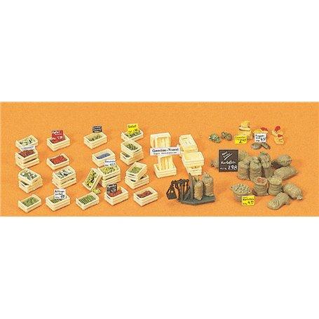 Preiser 17501 Frukt & Grönsaker, säckar m.m.