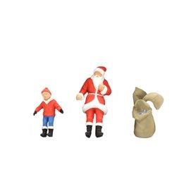 Preiser 65335 Jultomte och barn, med säckar