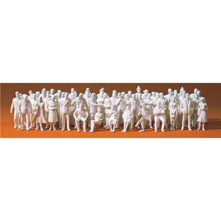 Preiser 68290 Omålade figurer, 60 st