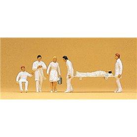 Preiser 10101 Sjukvårdare med bår