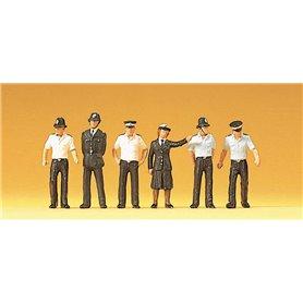 Preiser 10371 Polismän, 6 st, UK