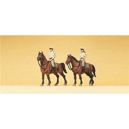 Preiser 10389 Polismän till häst