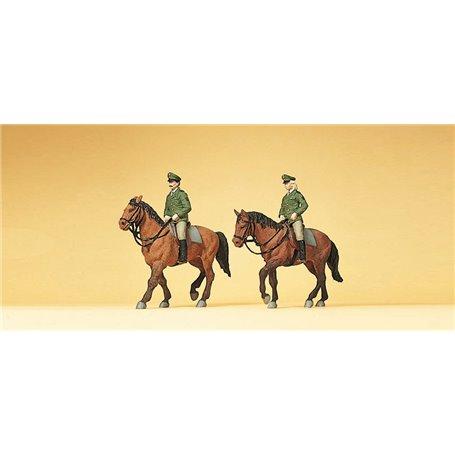 Preiser 10390 Polismän till häst