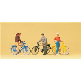 Preiser 10515 Cyklister, 3 st
