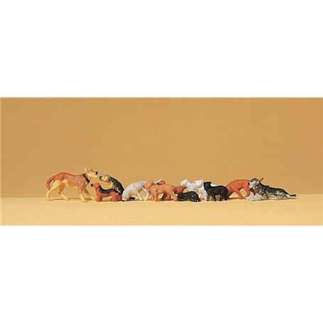 Preiser 14165 Hundar och katter