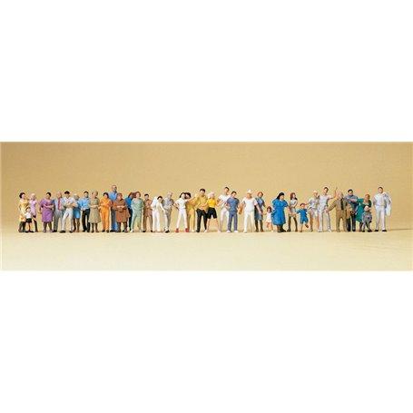 Preiser 14412 Storpack, gående figurer, 36 st