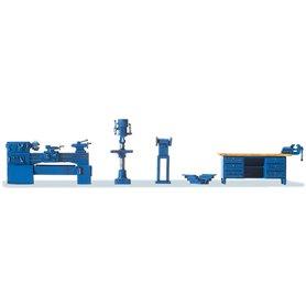 Preiser 17706 Verkstadsinredning, borr, verktygslåda, skrivbord m.m.
