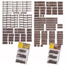 Noch 33095 Lantligt staket, storpack, 53 delar, ca 170 cm längd