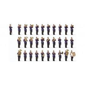Preiser 13255 Militärorkester 'Würtemberg', 1900-tals, 31 figurer
