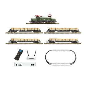Fleischmann 931886 z21 Digital starter set: electric locomotive class 194 with goods train, DB