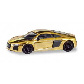 Herpa 038973 Audi R8 V10 Plus, golden polished