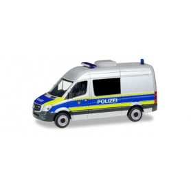 Herpa 094993 Mercedes-Benz Sprinter high Roof bus 'Police Department Berlin | Dangerous goods monitoring'