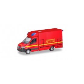 Herpa 095037 Mercedes-Benz Sprinter Fahrtec RTW 'Fire Brigade'