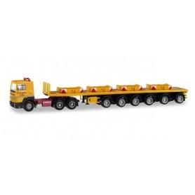Herpa 311434 Renault R 360 6×4 ballast trailer semitrailer with four ballast weights 'Franz Bracht'