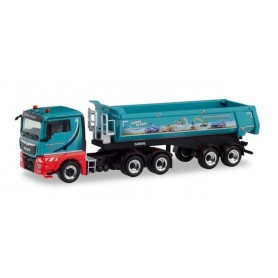 Herpa 311298 MAN TGX XL Euro 6c round trough semitrailer 'Schmuttermair'