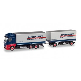 Herpa 311250 Mercedes-Benz Actros BigSpace curtain canvas semitrailer 'Alfred Talke'