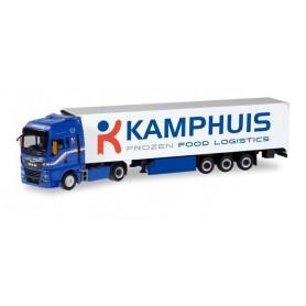 Herpa 311311 MAN TGX XXL refrigerated box semitrailer 'Kamphuis' (NL)
