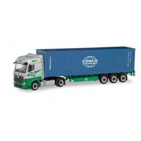 Herpa 311427 Mercedes-Benz Actros BigSpace container semitrailer 'EKB|COSCO'
