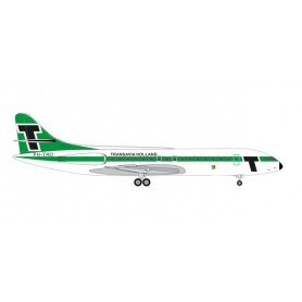 Herpa 533997 Flygplan Transavia Sud Aviation Caravelle 'Provincie Gelderland'