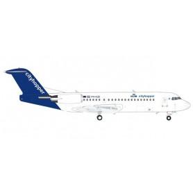 Herpa 570640 Flygplan KLM Cityhopper Fokker 70