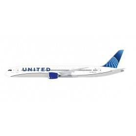Herpa 612548 Flygplan United Airlines Boeing 787-9 Dreamliner - new colors