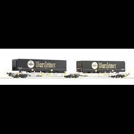 """Roco 76436 Dubbelvagn Sdggmrs/T2000 typ AAE """"Warsteiner"""""""