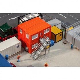 Faller 130135 4 Building site containers, orange