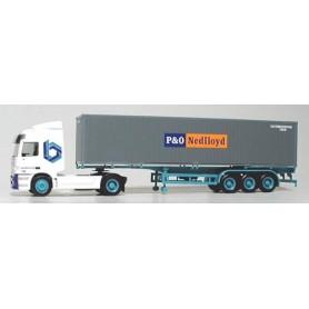"""Herpa 3586 Mercedes Benz Actros Bil & Containertrailer """"P&O Nedlloyd"""""""