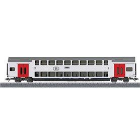 Märklin 00018 Personvagn 2-vånings 2:a klass M6 B 50 88 26-72 202-9 typ NMBS/SNCB