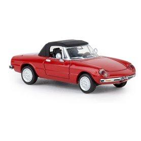 Brekina 29607 Alfa Romeo Spider, röd, TD