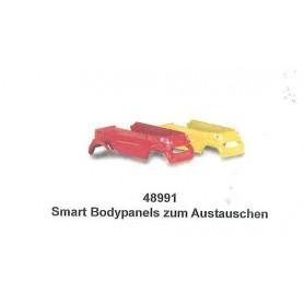 Busch 48991 Bilkarosser för smart för ombyggnad, 2st gul och röd